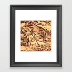 Animal ArtStudio -amazing Zebra Framed Art Print