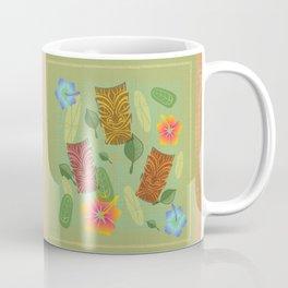 Bamboo Tiki Room Pattern Coffee Mug
