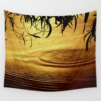 jazzberry Wall Tapestries featuring Honey Ripples by Donuts