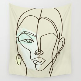 Strong Girl With Earring Wall Tapestry