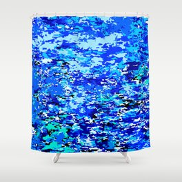 Blue Flames Background Shower Curtain