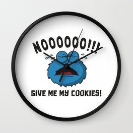 GDPR No More Cookies Monster Gift Wall Clock