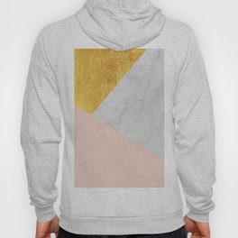 Carrara Marble with Gold and Pantone Pale Dogwood Color Hoody