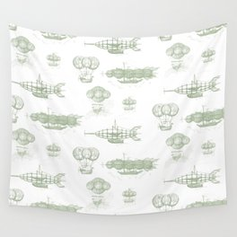Airship Pattern Wall Tapestry