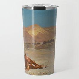 "Jean-Léon Gérôme ""Rider and His Steed in the Desert"" Travel Mug"