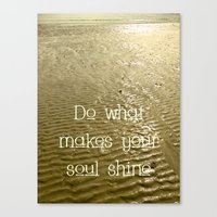 soul Canvas Prints featuring Soul by Alice Gosling