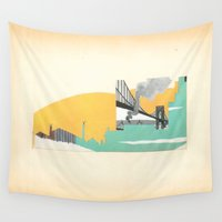 brooklyn Wall Tapestries featuring Brooklyn Summer by Morgan Jesse Lappin