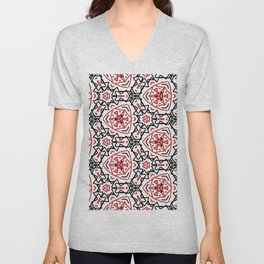 Frenetic from the Black & Red & White All Over Collection Unisex V-Neck