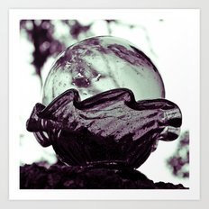 Glass sphere Art Print
