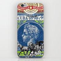 cuba iPhone & iPod Skins featuring VINTAGE CUBA by RIGOLEONART