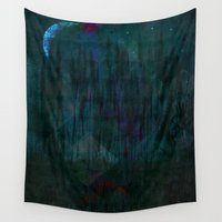 silent Wall Tapestries featuring Silent Night by mimulux