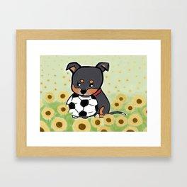 Charlie pup, Black Terrier pup Framed Art Print