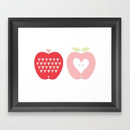 Two Apples Framed Art Print