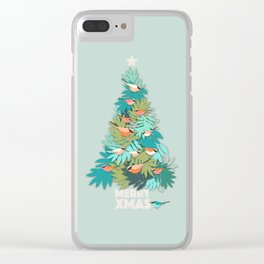 Tropical Xmas Clear iPhone Case