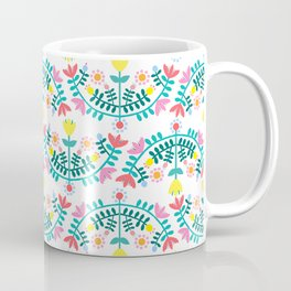 Folk Flowers White Coffee Mug