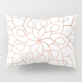 Mandala Rose Gold Pink Star Pillow Sham