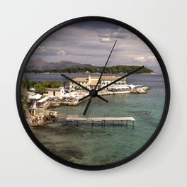 Corfu Seascape Wall Clock