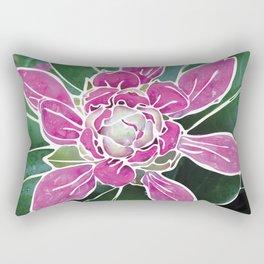 Batik Rhododendron Rectangular Pillow