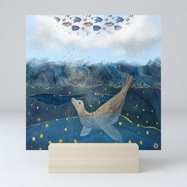 The Sea Lion's Dream - the race for food in warming oceans Mini Art Print