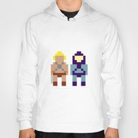 he man Hoodies featuring He-Man and Skeletor by Pixel Icons