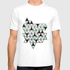Geometría White Mens Fitted Tee MEDIUM