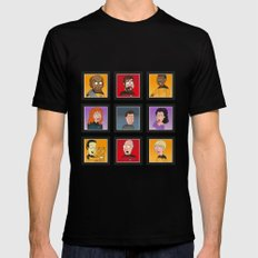 The Family Star Trek Bunch: Next Generation Black Mens Fitted Tee MEDIUM