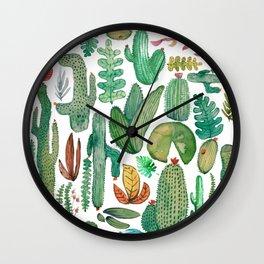 Desert Nature Watercolor Wall Clock