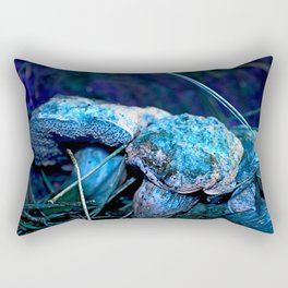 alien landscape indigo purple orange surreallist mushrooms Rectangular Pillow