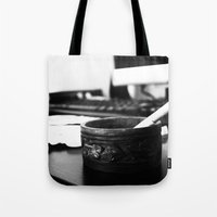 the office Tote Bags featuring Office by Difilippo