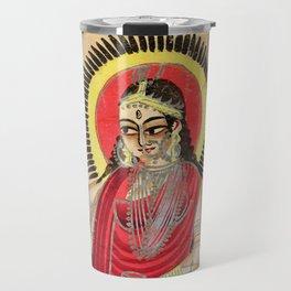 The Goddess Ganga - Vintage Indian Art Print Travel Mug