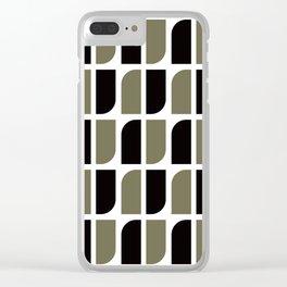 Geometric Pattern #41 (black gray) Clear iPhone Case