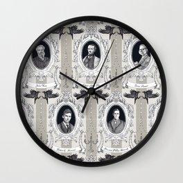 My favorite Authors Toile de Jouy Wall Clock