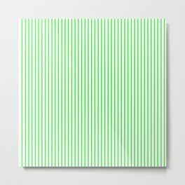 Thin Green Lines Vertical Metal Print