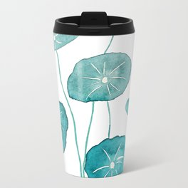 whorled umbrella plant leaf watercolor Travel Mug