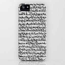 Ancient Arabic on Grey iPhone Case