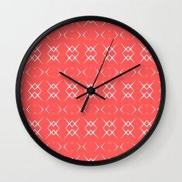 Coral:  Pattern No. 3 Wall Clock