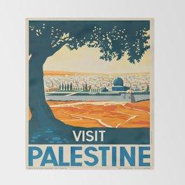 Vintage poster - Palestine Throw Blanket