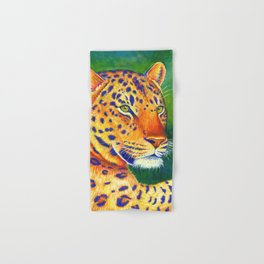 Colorful Leopard Big Cat Wild Cat Hand & Bath Towel