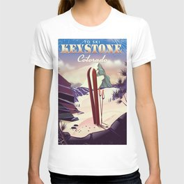 Keystone Colorado Ski poster T-shirt