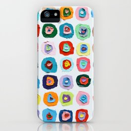 Concentric Polka Daubs No.3 iPhone Case