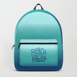 Beach please 3 Backpack