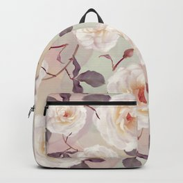 seamless   pattern of watercolor roses . Endless texture Backpack