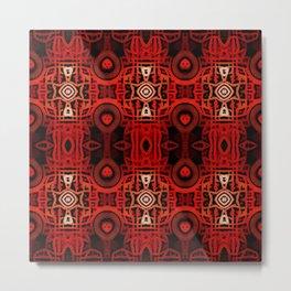 Tribal Batik Metal Print
