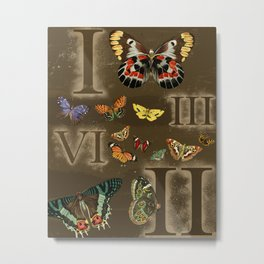 Let's Count Butterflies Metal Print