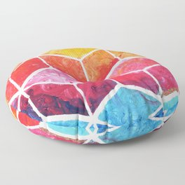 Cubes - Colorful Geometric Floor Pillow