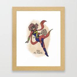 Super Hero Fantastic Girl Framed Art Print