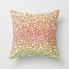 Champagne Shimmer Throw Pillow