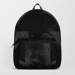 Grey Grunge UK flag Backpack