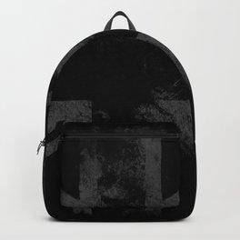 Grey Grunge UK flag Backpack
