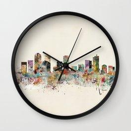 denver colorado skyline Wall Clock